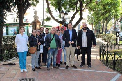 Cs plantea remodelar la Plaza de Bailén de Málaga para instalar un parque infantil y aparatos de gimnasia para mayores