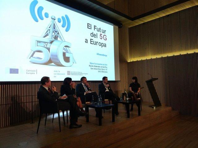 Viola (CE), Almazor (Telefónica), Figuerola (i2cat) y Pallarols (Cellnex)