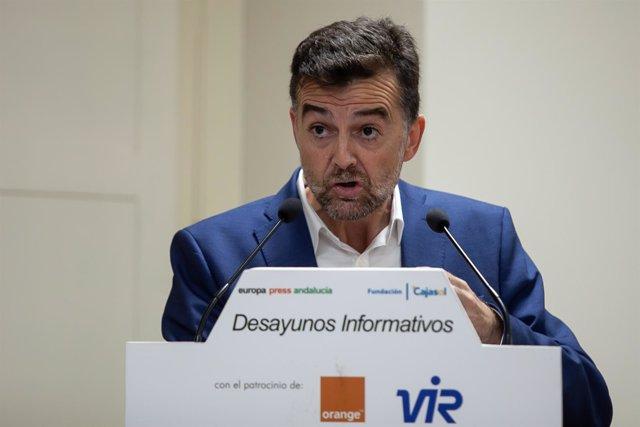 Antonio Maíllo, en los Desayunos de Europa Press Andalucía