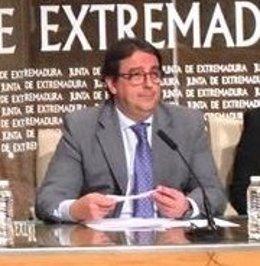 José María Vergeles en rueda de prensa este jueves en Mérida