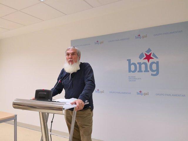 O deputado do BNG Xosé Luís Rivas 'Mini'