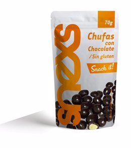 Snack de chufa con chocolate