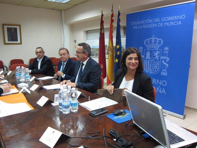 Oroño, Conesa, Valverde y López, reunión Portmán