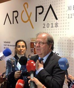 Juan Vicente Herrera en la inauguración de AR&PA, 8-11-18