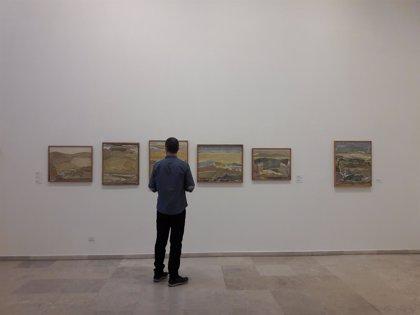 """Más de 50 obras del palentino Díaz-Caneja, """"arqueólogo"""" del paisaje castellano, ahondan en los colores de su tierra"""