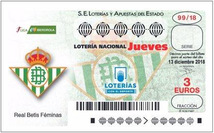 Los aficionados de La Liga Iberdrola podrán jugar a la Lotería con el décimo de su equipo