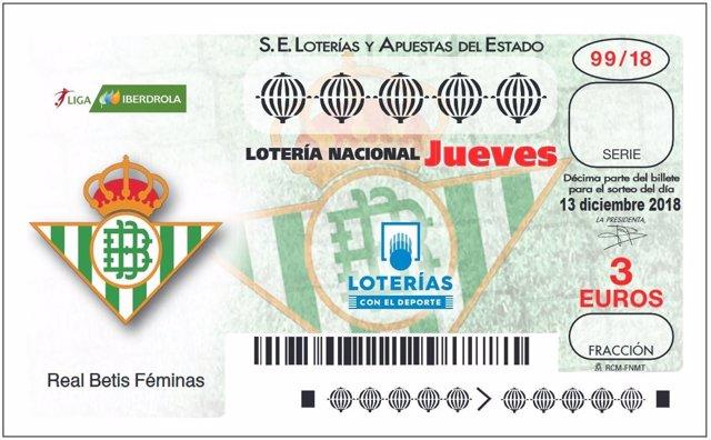 Décimo de Lotería Nacional del Betis