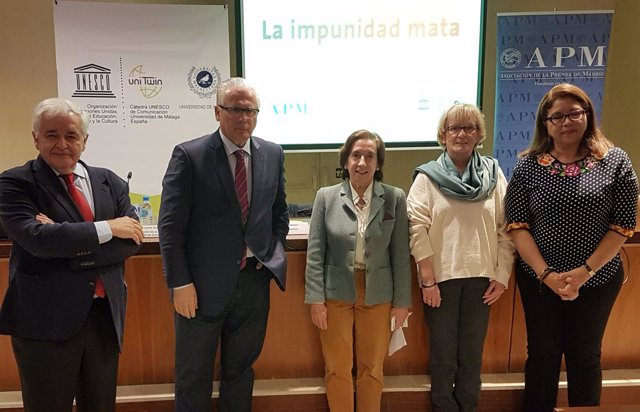 Baltasar Garzón en acto Día Internacional contra impunidad crímenes periodistas