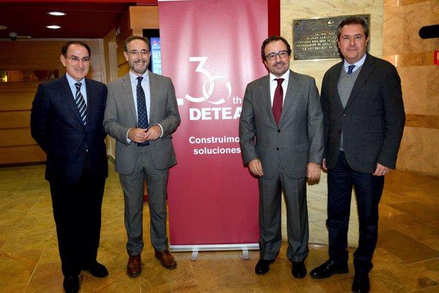 Javier Fernández de Lara, Felipe López, Arturo Coloma y Juan Espadas,