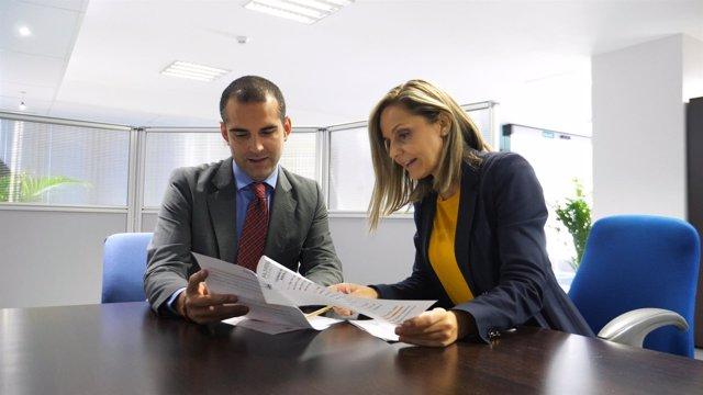 El alcalde de Almería se reúne con la candidata del PP Maribel Sánchez