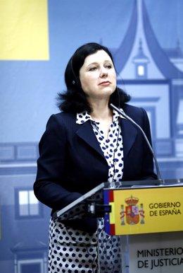 La comisaria europea de Justicia, Vera Jourova
