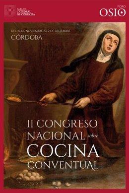 Cartel del II Congreso Nacional sobre Cocina Conventual