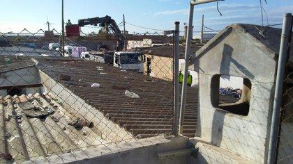 Retiran los restos de las tres casas desalojadas el miércoles en el poblado de Son Banya