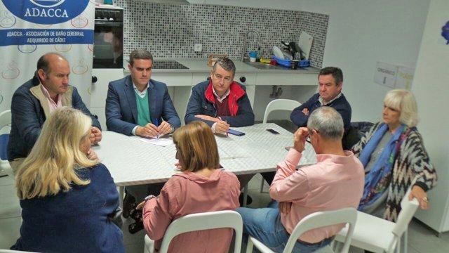 Reunión representantes PP con Adacca Cádiz