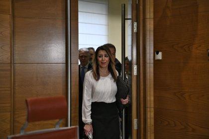 Susana Díaz dice que su comparecencia en el Senado se debe a que el PP aun respira por la herida de la moción de censura