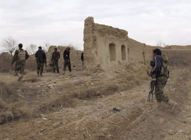 Soldados afganos en Helmand
