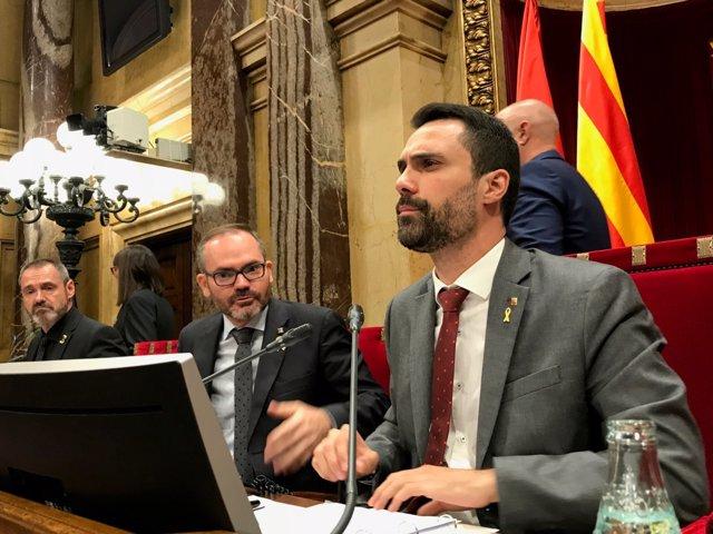 Eusebi Campdepadrós, Josep Costa, Roger Torrent (Mesa del Parlament)