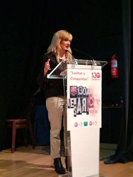 Carmen Castilla en la exposición de 130 años de UGT