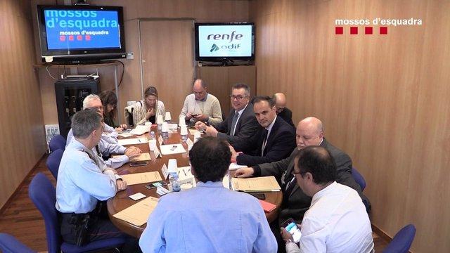 Reunión entre los Mossos d'Esquadra, Adif y Renfe por el incidente en Sants
