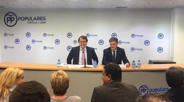 Valladolid.- Fernández Mañueco y Vázquez, en el Comité Ejecutivo del PP