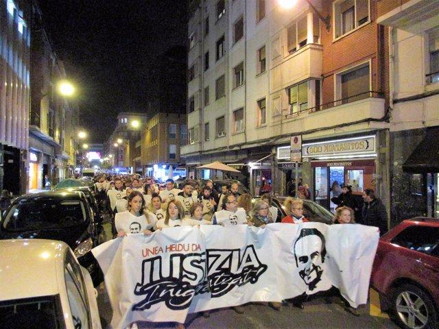 Manifestaciónen Solidaridad Con Iñigo Cabacas