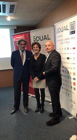 Joan Buades, Maria F. Alorda y Josep Lluís Aguiló