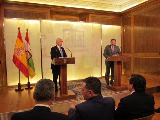 José Luis Ábalos Con José Ignacio Ceniceros