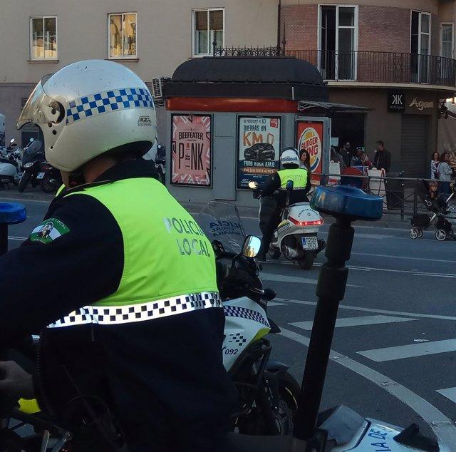 Agentes de la Policía Local de Málaga en una imagen de archivo