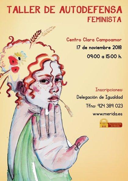 El Ayuntamiento de Mérida organiza el próximo 17 de noviembre un taller de autodefensa feminista