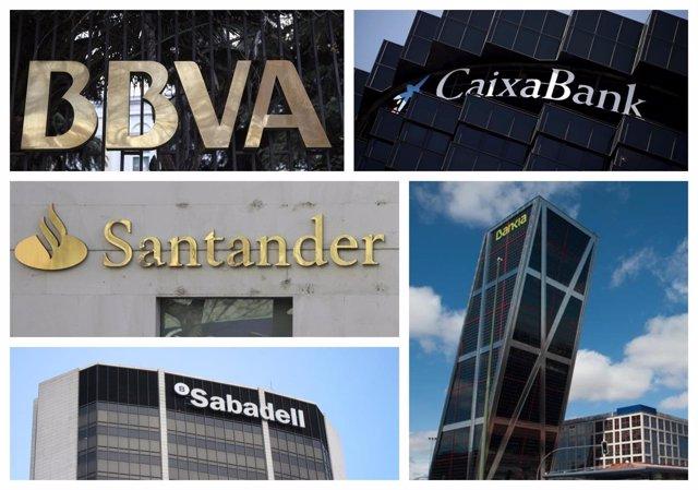Logo de los grandes bancos españoles