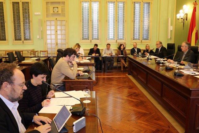 Andreu Manresa explica el presupuesto de IB3 en el Parlament