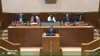 """Urkullu emplaza a E-Podemos a actuar en Euskadi con el mismo """"rigor"""" que le ha llevado a apoyar los PGE"""