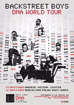 Backstreet Boys actuarán en Madrid y Barcelona en mayo con su nuevo disco 'DNA'
