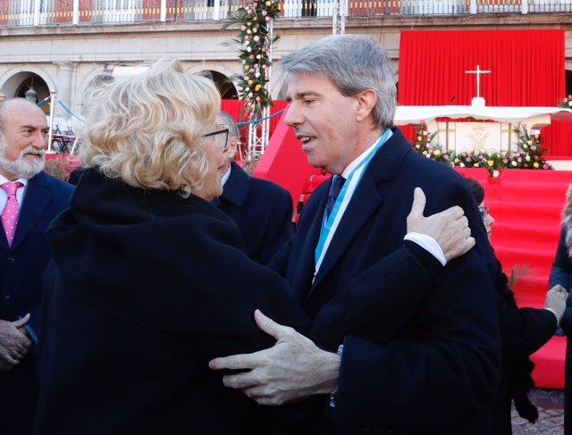 El presidente de la Comunidad, Ángel Garrido, y la alcaldesa Manuela Carmena