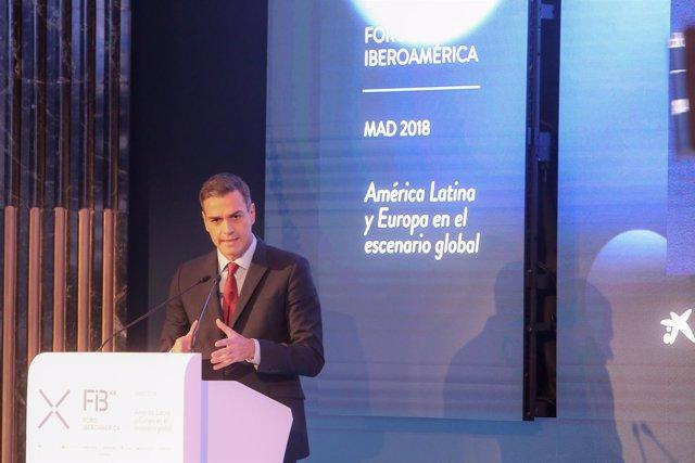 Acto de inauguruación de la XIX Edición del Foro Iberoamérica  en Madrid