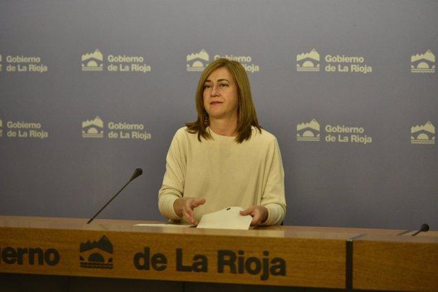 La portavoz del Gobierno riojano, Begoña Martínez Arregui en el Consejo