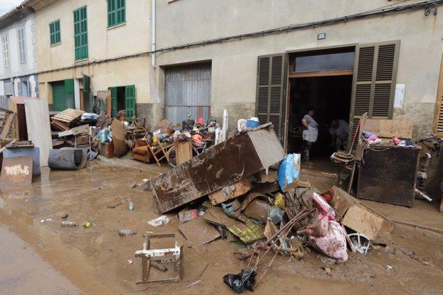 Destrozos en Sant Llorenç por las lluvias