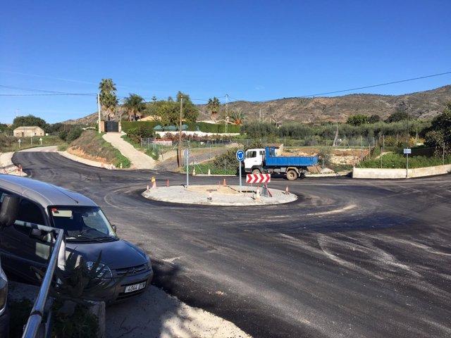 Carretera intersección diputación mejoras alhaurin el grande y de la torre