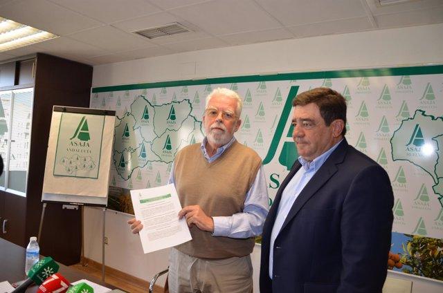 Ricardo Serra y Vicente Pérez, de Asaja-A.