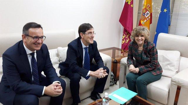 Conesa, Villegas y Carcedo, durante la reunión