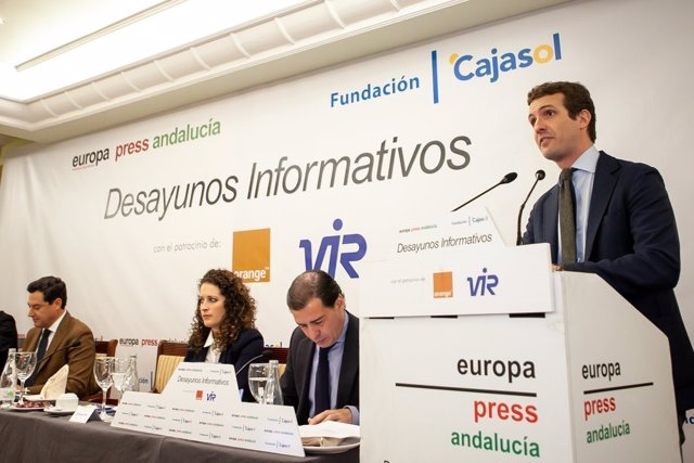 Pablo Casado, en los Desayunos informativos de Europa Press en Jaén