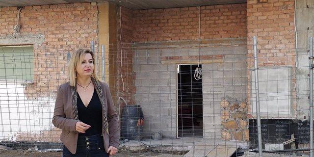 Carmen Lizárraga, en las obras del centro de salud de Bola de Oro