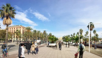La reurbanització de la Balconada del Moll de la Fusta començarà al març i es preveu que finalitzi a l'octubre