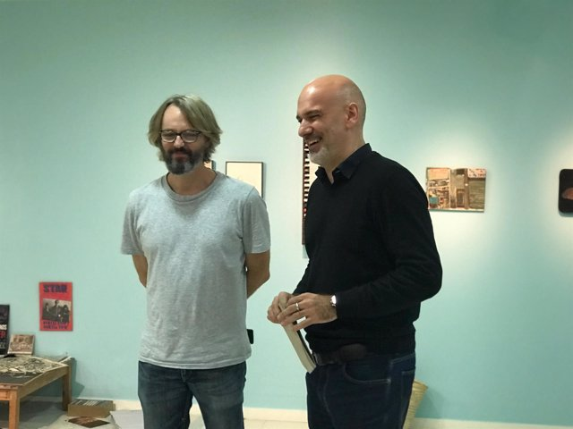Artista Pere Llobera;Lluís Alavern (MNAC, jefe programas públicos y museografía)