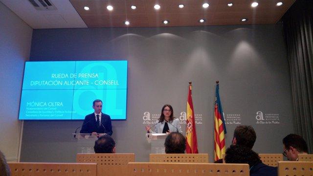 Mónica Oltra y César Sánchez en una imagen de archivo