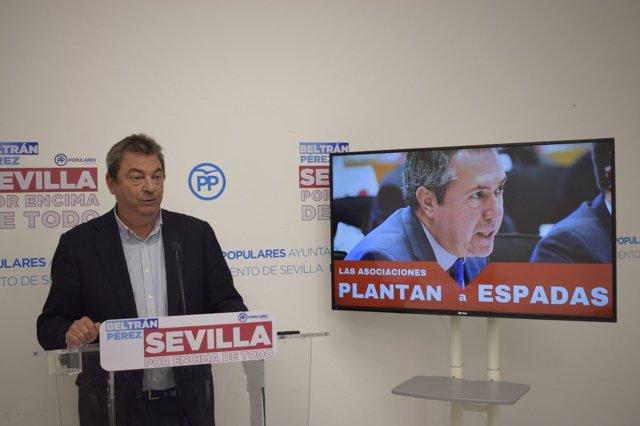 El concejal del PP en Sevilla Ignacio Flores