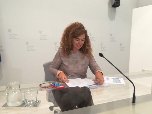 La portavoz Pilar Costa, tras el Consell de Govern