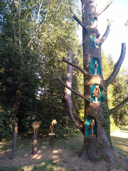 Estudiantes de la Escuela de Arte de Pamplona transforman un cedro del Líbano de 130 años en una instalación artística