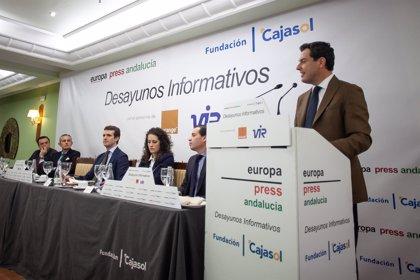 """Juanma Moreno asegura que la provincia tiene """"un futuro muy esperanzador de la mano del PP"""""""