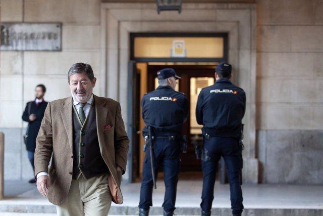 Francisco Javier Guerrero acude al juicio de los ERE en la Audiencia Provincial